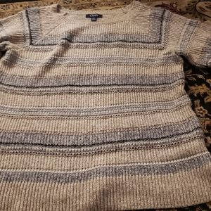 Chaps Striped Heavy Sweater Large